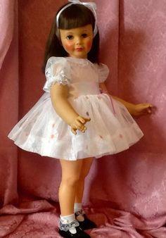 Beautiful Black Cherry Patti Playpal Walker Doll Old