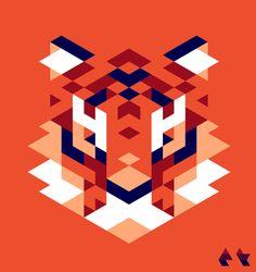 Geometric Tiger Gif