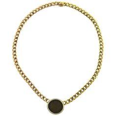 Bulgari Tricolor Gold Roman Empire Ancient Coin Necklace Rome / Roman : More At FOSTERGINGER @ Pinterest ⚫️