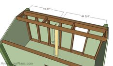 This step by step diy woodworking project is about duck blind plans free. The project features instructions for building a permanent duck blind. Woodworking Projects Diy, Woodworking Plans, Duck Blind Plans, Plywood Panels, Floor Framing, Wooden Playhouse, Diy Shed, Back Doors, Play Houses