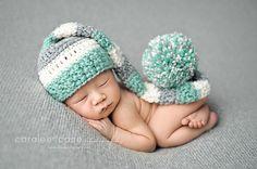 Elf Hat in Mint room en zilver