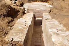 Historic discovery … archaeologists uncover what is believed to be Egyptians' first attempt at smooth-sided pyramid