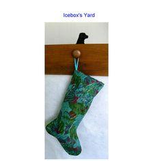 Turquoise Peacock Christmas Stockings - Handmade Xmas Stocking, Multi Colored…