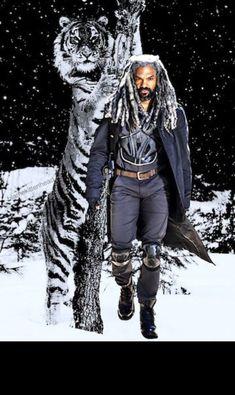 King Ezekiel, Walking Dead 1, Norman Reedus, Zombies, Paintings, Fan, Random, Celebrities, Actors