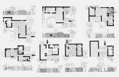 Aris Konstantinidis, Studies for Week-end houses, 1942-1945