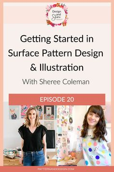 In this podcast episode, I talk to surface pattern designer and illustrator Sheree Coleman. She shares with us how she is transitioning away from full-time work to building her brand Whimsy Kaleidoscope. We discuss how she got started, what led her to surface pattern design, how she gets clients and tips she has for other aspiring designers. Sheree has put in the hard work and it's now paying off, so you won't want to miss this conversation. Kids Patterns, Floral Patterns, Inspiration For Kids, Design Inspiration, Textile Design, Fabric Design, Photoshop Tips, Surface Pattern Design, Geometric Designs