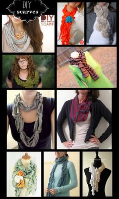 Lots of cute DIY Scarves-- link up your own too!