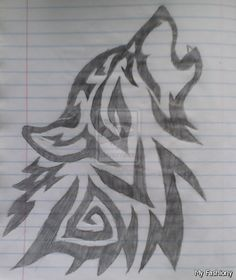 cool drawings of wolves - Google Search