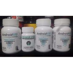 3 Android600 60 Cáps + Selenium Atom 30 Cáps - R$ 335,00