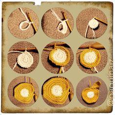 Crocheteando tutorial manzana #crochet