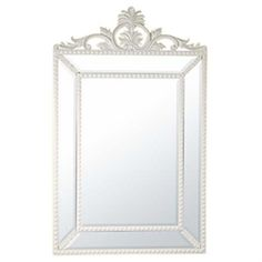 Pin Cushion Mirror With White Rocaille Crown | ACHICA