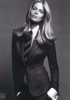 Julia Stegner. Vogue Paris September 2005. black and white fashion editorial