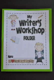 Make your own multiple-pocket folders for Writer's Workshop! Awesome for organizing student writing! $