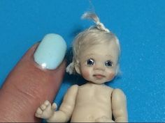 Miniature Baby Tutorial Pt. 1 (Head) - Polymer Clay Tutorial - YouTube