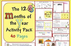 Learn and Grow Designs Website: Ideas for Teaching the Months of the Year, a new unit, FREE download, and Giveaway