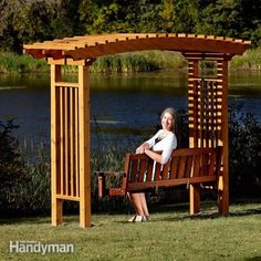<p>You can build this stylish, arched <strong>garden arbor</strong> with a swing in only a couple of days—it's way easier than it looks. </p>