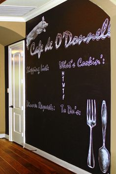 Your Personal Family Planner/ Chalkboard Wall :-D I bet you can make your own perfect match!