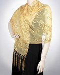 Beautiful Gold Dressy Party Wrap Prom Wrap