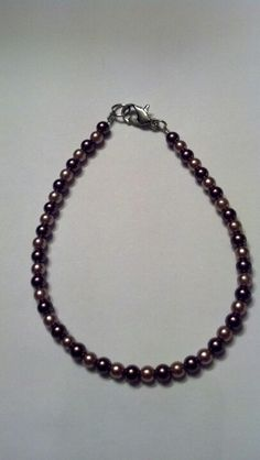 Brown pearl beads necklace