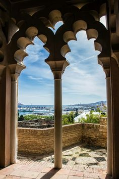 """Al-Andalus ( الأندلس ) The Alcazaba is a palatial fortification in Málaga, Spain. It was built by the Hammudid dynasty in the early 11th century. This is the best-preserved alcazaba """"meaning """"citadel"""" in Spain. Adjacent to the entrance of the Alcazaba are remnants of a Roman theatre dating to the 1st century BC.Ferdinand and Isabella captured Málaga from the Moors after the Siege of Málaga (1487), one of the longest sieges in the Reconquista"""