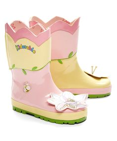 Another great find on #zulily! Pastel Yellow Lotus Rain Boot by Kidorable #zulilyfinds