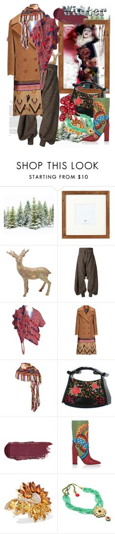"""""""In The Woods"""" by crazyzanyfake ❤ liked on Polyvore featuring Pottery Barn, M&Co, Vivienne Westwood, Anthropologie, Etro, Valentino and Stephen Webster"""