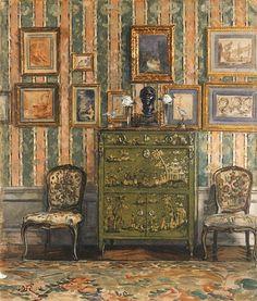 William Rankin  Lady Mendl's Green Lacquer Cabinet  1920-29
