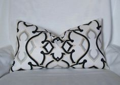 Black And Creme Overlapping Squares Pillow Cover-18 inch $32.00