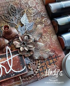 Mon Scrap'uleux Monde!: My art... rusty! Lindy's and Stencil Girl Blog Hop!