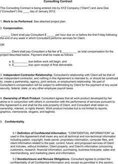 Sample Freelance Writing Contract  TemplatesForms