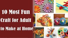 simple arts and crafts for adults to do at home step by step
