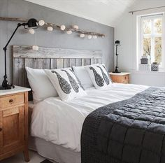 Inexpensive Pallet Headboards for Your Bed   Pallet Furniture Plans