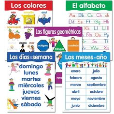 Amazon.com : Creative Teaching Press Spanish Basic Skills, 5-Chart Pack (5792) : Themed Classroom Displays And Decoration : Office Products