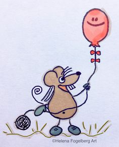 The simple joy of having my own baloon as a child! #illo52weeks