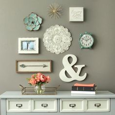 Small White Medallion Wall Decor - Stratton Home Decor of metal; Wipe clean with a damp cloth; Features: Wipe Clean with Damp ClothHand Craft Hm Deco, Living Room Designs, Living Room Decor, Living Room Wall Ideas, Bedroom Ideas, Decor Room, Dinning Room Wall Decor, Rustic Kitchen Wall Decor, Rustic Wall Art