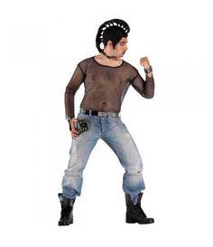 Διχτυωτή Μπλούζα Punk στολή ενηλίκων Sexy & Trendy στολές