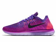 the latest d2ccc e3cb8 Nike Wmns Free Run RN Flyknit 2017 Fire Pink Hyper Grape (880844-600)