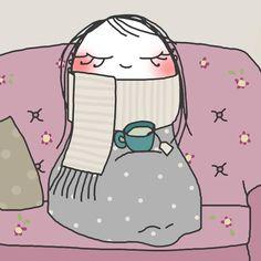 ¡¡¡Buenos (y fríos) días!!! ¿Vamos a por el #FelizMiércoles? Arriba ese ánimo !!! (ilustración de misspink❤)
