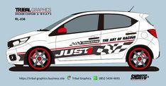 Sticker Mobil Sorong, Honda Brio Sticker Design.  TRIBAL GRAPHICS jln. Trikora,Transad,Aimas Kab.Sorong Papua Barat Call/SMS/WA (0852-5434-4693)  #TribalGraphics #CuttingSticker #3DCuttingSticker #Decals #Vinyls  #Stripping #StickerMobil #StickerMotor #StickerTruck #Wraps  #AcrilycSign #NeonBoxAcrilyc #ModifikasiMobil #ModifikasiMotor #StickerModifikasi  #Transad #Aimas #KabSorong #PapuaBarat Custom Wraps, Design Portfolios, Portfolio Design, Sticker Design, Racing, Graphic Design, Stickers, Home, Autos