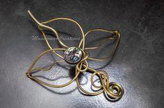 Brass Hair bun holder slide Hair pin wrapped by MusawwarCreation