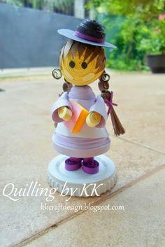 KK Design: 3D Quilled Doll Tutorial - 2