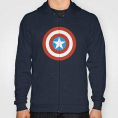 Captain America Weapon Hoody - #CaptainAmerica #Comics #MinimalistHeroes #Design #Society6 #Hoody #Sweatshirt