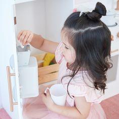 Teamson Kids Little Chef Paris Play Kitchen Set , Toddler Kitchen, Kids Play Kitchen, Toy Cooker, Wooden Toy Kitchen, Little Chef, Wood Accents, Kitchen Styling, Kitchen Furniture, Kids Playing