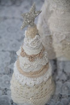 Vintage lace trees by Isa Creative Musings
