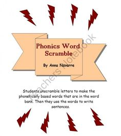 Phonics Scramble product from Mrs-Navarres-Shop on TeachersNotebook.com