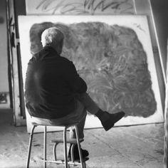 Joan Miro in his Palma de Mallorca studio.  I love Miro.