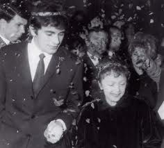 Piaf at her wedding to Theo Sarapo in 1962