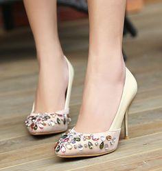 Encontrar Más Bombas Información acerca de 2015 mujeres calientes de la venta tacones altos zapatos de boda lady menos plataformas Sexy rhinestone dedo del pie acentuado bombas party talón delgado, alta calidad Bombas de FANG Chan's store en Aliexpress.com