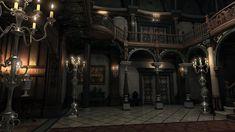 Resident evil mansion 4k render hall by Bowu