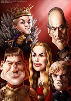 Game of Thrones - Lannister caricature by sole00 on DeviantArt